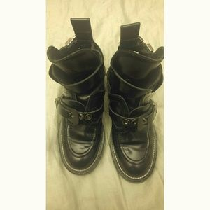 Balenciaga cut out combat boots
